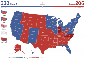 2012 Electoral Map from New York Times