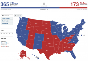 2008 Electoral Map from New York Times