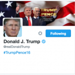 Donald Trump Twitter Profile